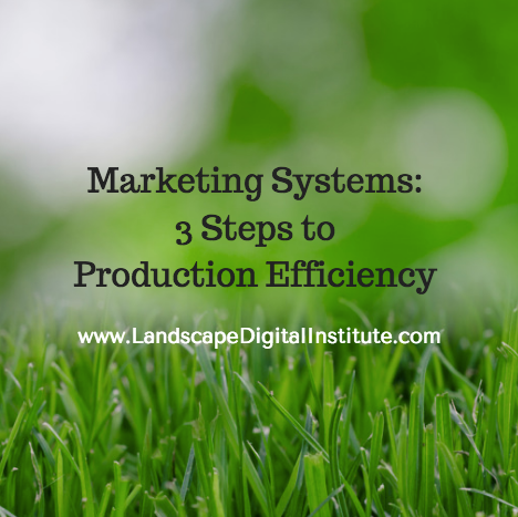 Marketing Systems: 3 Steps to Production Efficiency