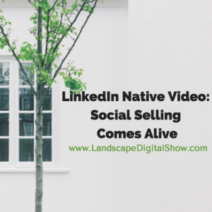 LinkedIn Native Video: Social Selling Comes Alive